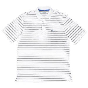 Greg Norman Striped 5 Iron Golf Polo Shirt White